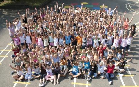 Kinder aus der Burgschule Waiblingen